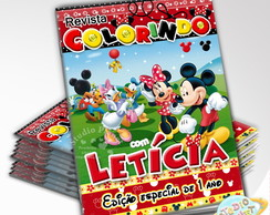 Revista de Colorir Mickey e Minnie