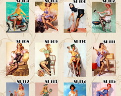 Placas decorativas-pin-up-vintage