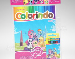 Kit Colorir My Little Pony + Brindes