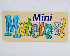 Placa MINI MATERNAL