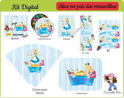 Kit Festa Digital Alice