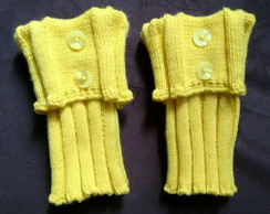 boot cuffs / Polainas de trico.