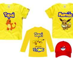 Camisetas para aniversario do Pokemon