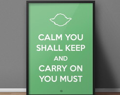 Quadro Keep Calm - Yoda - A4