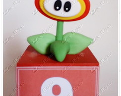 Vela Cubo Flower Fire - Super Mario