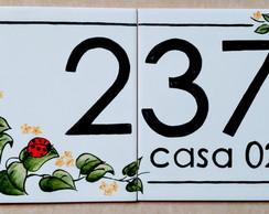 Azulejos com numeros e letras elo7 for Azulejo numero casa