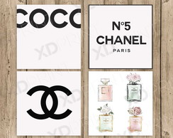 Quadro Placa Decorativa- Kit Chanel n5