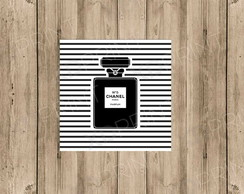 Quadro Decorativo MDF -Perfume Chanel n5