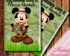 Livrinho colorir Mickey safari !