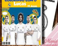 Livro de colorir Real Madrid !