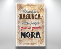Placa Decorativa bagunça