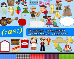 Kit Digital Scrapbook Festa Junina 01