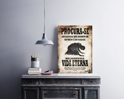 "Placa decorativa ""Vida Eterna"""