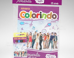 Kit Colorir Violetta + Brindes