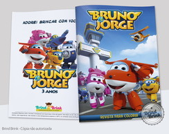 Super Wings Revista para Colorir
