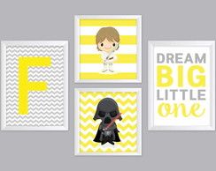 Quadros Star Wars e Dream Big Little One