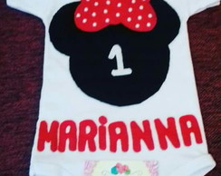 Body personalizado Minnie Mouse