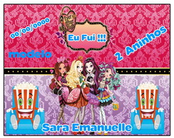 Ad.Balde de Pipoca 1,0lt Ever After High