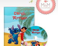 DVD+Capa Personalizados-Little e Stitch