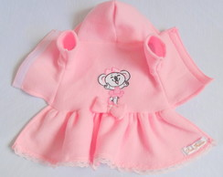 Vestido Pet Soft Rosa Bordado G e GG
