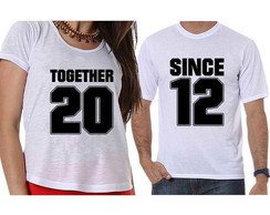 Camisetas Casal Together Since