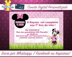 Convite Digital Minnie Rosa 2