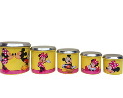PORTA MANTIMENTOS AMARELO MINNIE