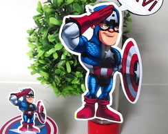 tubete +latinhas do capitao america