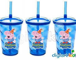 Copo Shake Twister George Pig