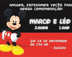 Arte digital virtual - Convite Mickey