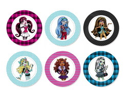 Aplique 3,5cm - Monster High