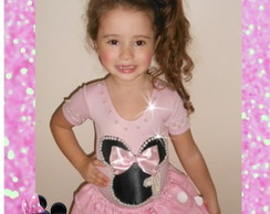 Saia Collant Conjunto Minnie Pérolas