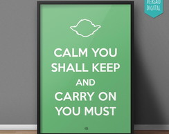 Quadro Keep Calm - Yoda - Digital