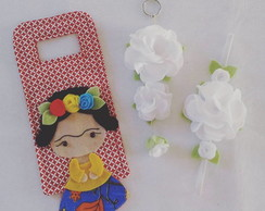 Kit Porta Carregador e Flores - Frida