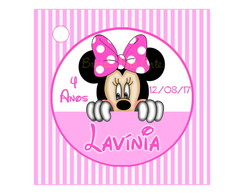 Tag Minnie Mouse Rosa