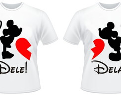Kit 2 Camiseta CasalMickey e Minnie