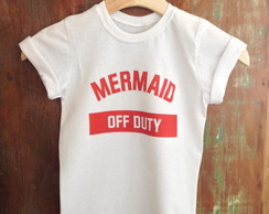 Camiseta infantil Mermaid off Duty