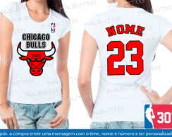 baby look basquete chicago bulls