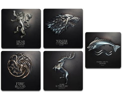 Ímãs Brasões Game of Thrones Pack 10 und