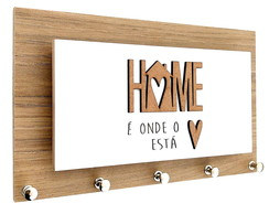 Porta Chaves e Cartas Home Coracao