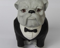 Escultura Cachorro buldogue Black Tie