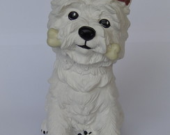Escultura cachorro west highland terrier