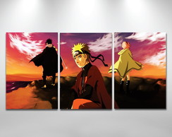 Kit placas decorativas Naruto