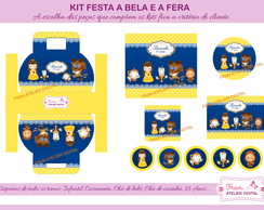 Kit Digital Festa A Bela e a Fera Cute