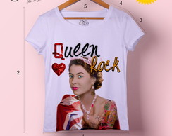T-shirt feminina Rock Queen