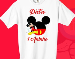 KIT 2 CAMISETAS ANIVERSARIO MICKEY