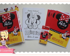 Kit de colorir + giz de cera - Minnie