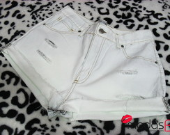 Short Jeans Destroyed White