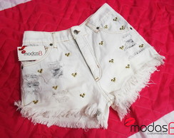 Short Jeans Mickey & Minnie White