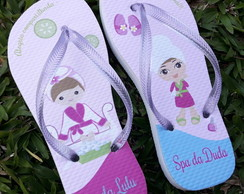 Chinelo Personalizado Spa Party